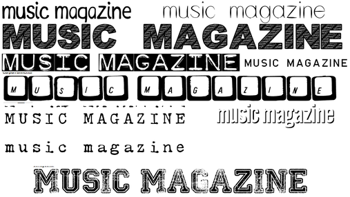 this are some font ideas for my masthead for my magazine out of all the fonts i quite like the last one at the bottom i like how its bold and in